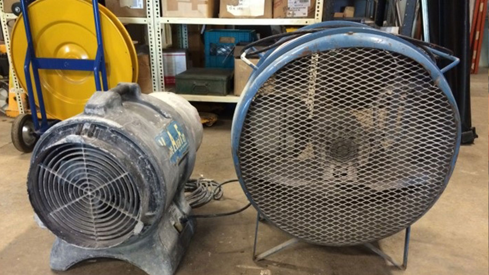 fans, banding machine